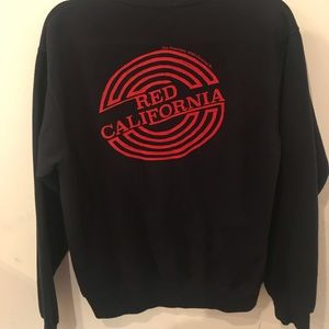 Brandy Melville red California graphic pullover
